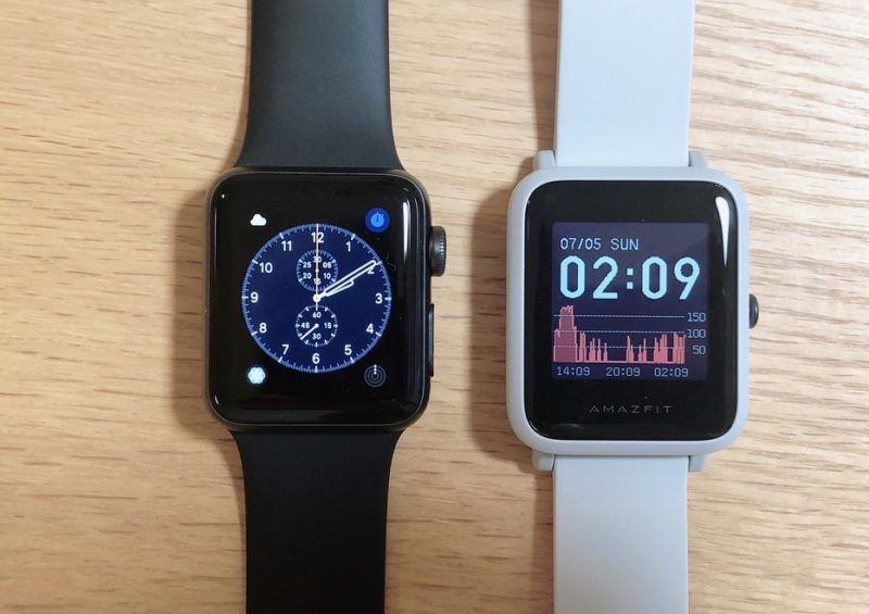 Amazfit Bip SとApple Watchの比較
